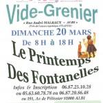 Vide Grenier Le Printemps des Fontanelles (c) Association Quartier Breuil-Mazicou-Les Fonta