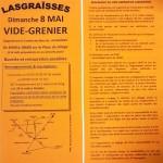 LASGRAISSES - Vide grenier - 8 Mai 2016 (c) Comité des fêtes