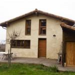 Visite d'une maison en paille à Teulat (c) Espace Info Energie CAUE du Tarn