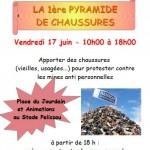 Pyramide de Chaussures (c) Les Solidaires de Pasteur