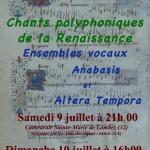 Concert musique polyphonique Renaissance (c) association Voies et Pour la répétition du v