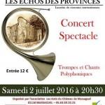 Concert Spectacle de Trompe et Chants (c) Association Les Amis du Château de Massaguel