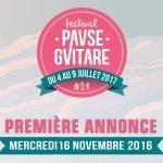 Pause Guitare 2017 : Première annonce mercredi 16 novembre 2017
