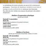 Atelier d'écriture (c) Médiathèque de Lautrec