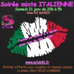 Soirée mixte Italienne (club libertin) (c) sclub