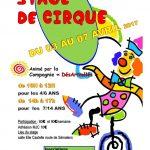 Stage de cirque pour les 4/14 ans (c) MJC de SAÏX