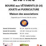 Bourse aux vetements,jouets et puericulture (c) Tennis club de Lautrec