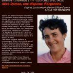 Lecture / Spectacle Alice Domon (c) Café PLUM