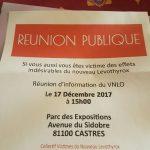 Levothyrox Réunion Publique 17 Décembre 2017 (c) Victime du nouveau levothyrox occitanie