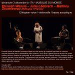 Musique du monde ethiopie/france (c) CAFE PLUM