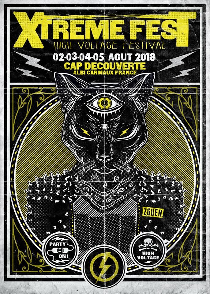 Xtreme Fest, affiche 2018 / © Pèir Lavit