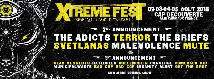 Xtreme-Fest-2018, Six nouveaux noms et le visuel dévoilés !
