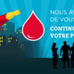 Nous avons besoin de vous! Continuez de partager votre pouvoir - Don de sang / © EFS