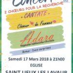 Concert Rétina: 2 choeurs pour la recherche (c) Association Cantate