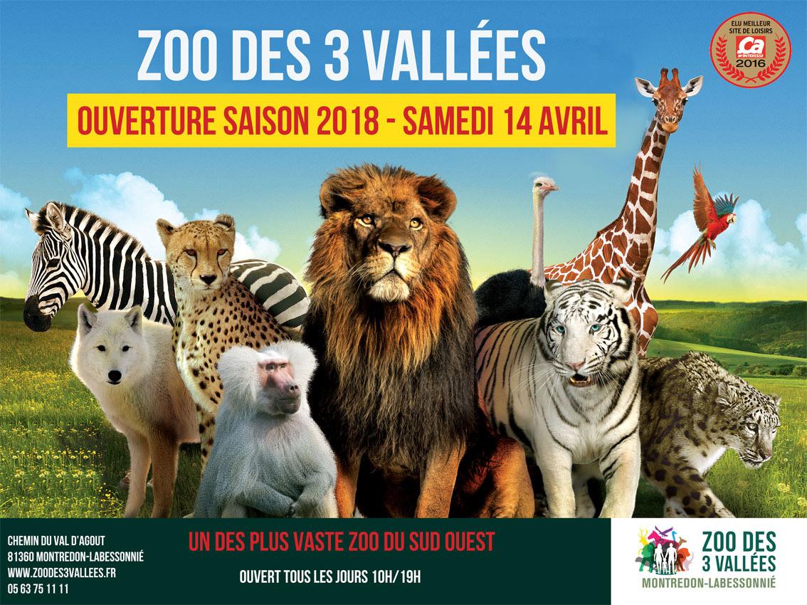 Zoo des 3 Vallées, lancement de la saison 2018 samedi 14 avril / © DR
