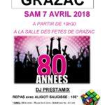 Repas dansant années 80 à Grazac 81 (c) Comité des Fêtes de Grazac 81
