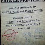 Vente de fleurs, plants et marche local (c) APE école de Montans