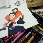 Atelier Illustration: portrait de famille (c) Atelier Polymorphe - lieu d'exploration artis