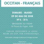 Café des langues français – occitan (c) Centre Culturel Occitan de l'Albigeois, Albi