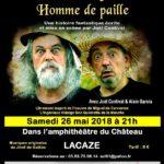 Sancho et l'ingénieux homme de paille (c) Amis du Château de Lacaze en Hautes Terres d'