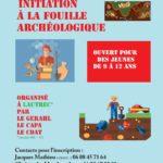 Initiation à la fouille archéologique (c) Association le GERHAL