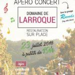 Apero concert (c) Domaine de Larroque