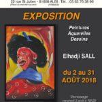 Au Hibou Expo des oeuvres de Elhadji Sall (c) Caf'ART AU HIBOU avec l'association Tarn Tera