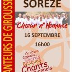 Concert Choeur d'hommes de Giroussens (c) Association des Chanteurs de Giroussens