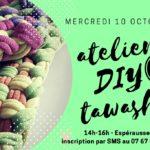 Atelier Diy zéro déchet: tawashi (c) Association Libres enfants du Tarn