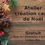 Création cartes de Noël (c) Cathy Guerry