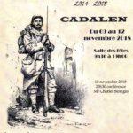 Exposition centenaire fin 1914/18 (c) Mairie de Cadalen le Saule Cadalénois et viv