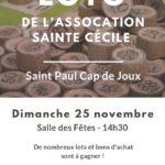 Loto de Ste Cécile (c) Association Sainte Cécile de Plane de Sylve