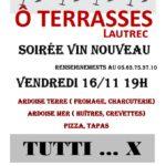 Soirée Vin Nouveau (c) Restaurant Ô Terrasses