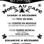 Noël au café - Troc de noël, Contes, huitres (c) Association Aici Sem Plan