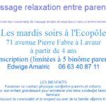 Atelier de massage parent-enfant (c) Edwige Amalric