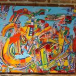 Exposition peinture Mozaic Artiste P.Kaisin (c)