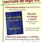 Conférence Nouvelle Anthologie Occitane Tarn (c) Centre Occitan del País Castrés