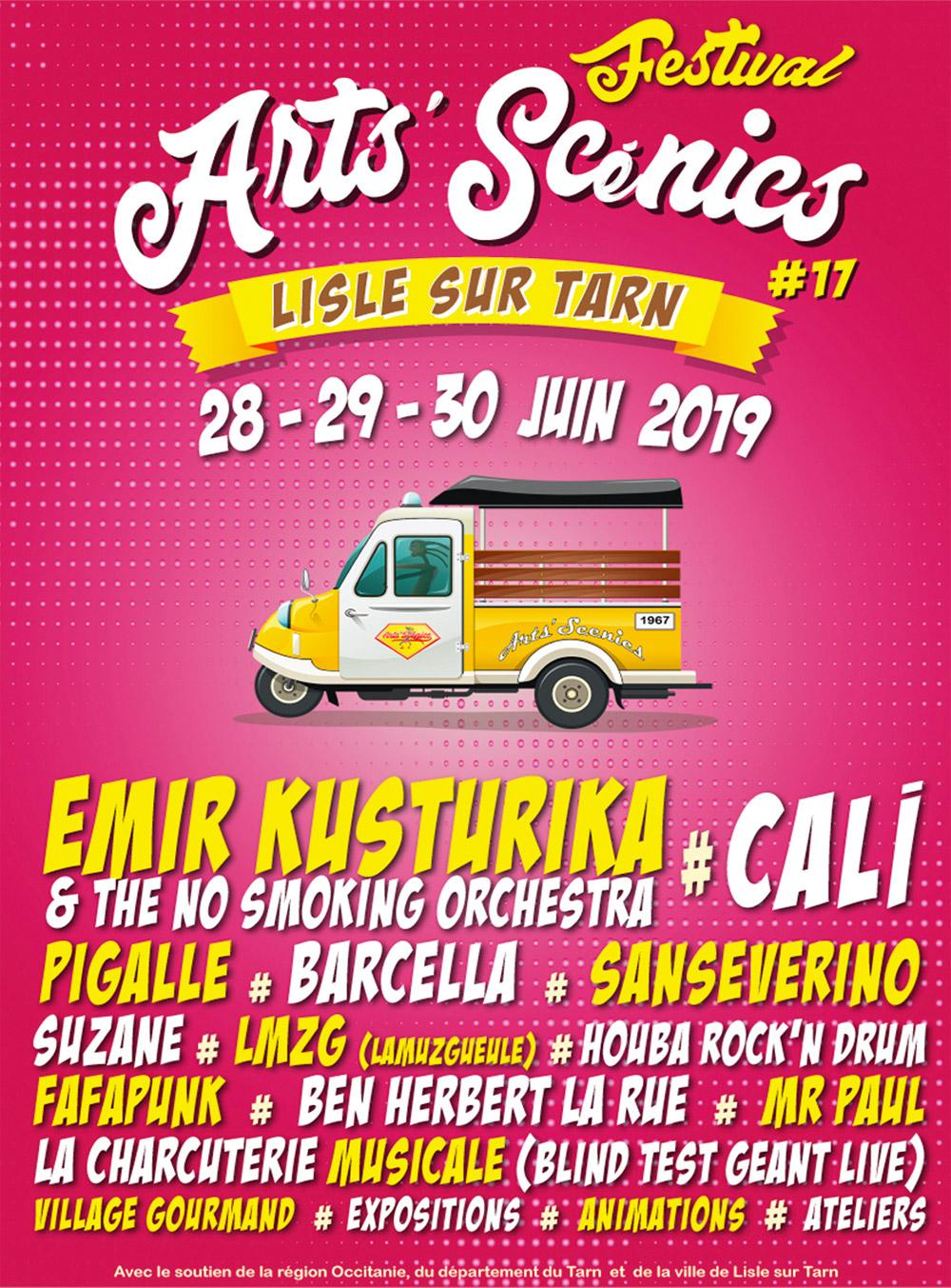 Festival Les Arts'Scénics 2019, Lisle sur Tarn