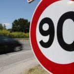 Llimitation de vitesse 90 km/h / © Quentin Salinier