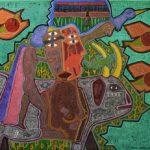 Michel Julliard, Peintures « plumitives » (c) Musée d'art moderne et contemporain de Cordes
