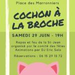 Repas cochon à la broche (c) Comité des fêtes de Viterbe