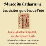 Les visites guidées de l'été (c) Musée du Catharisme