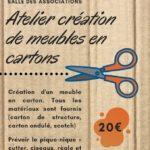 Atelier de création meubles en carton (c) Association Papyrus