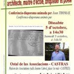 Conférence Un vauréen oublié, Paul Debar (c) Centre Occitan del País Castrés