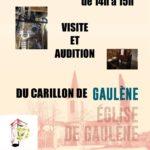 Visite et audition du carillon de Gaulene (c)
