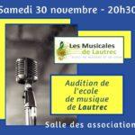 Audition des élèves (c) Les Musicales de Lautrec